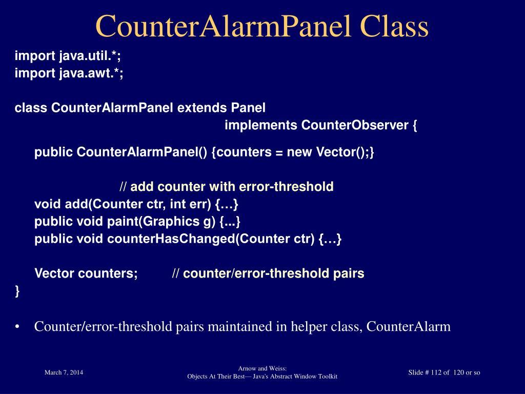 CounterAlarmPanel Class