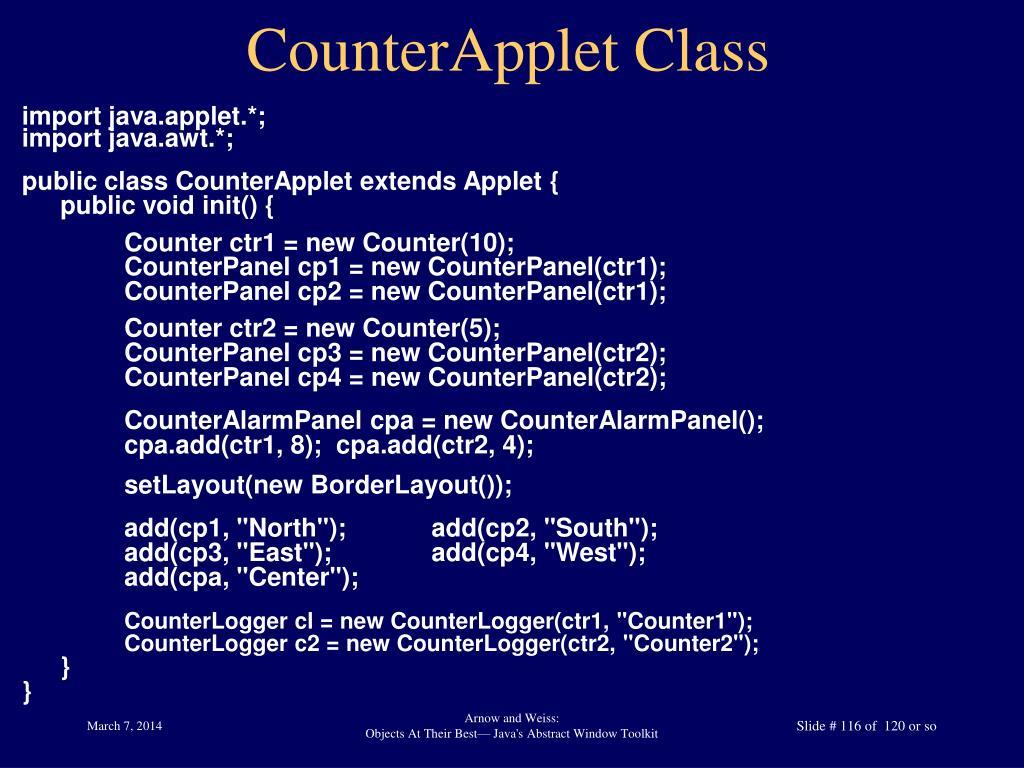 CounterApplet Class