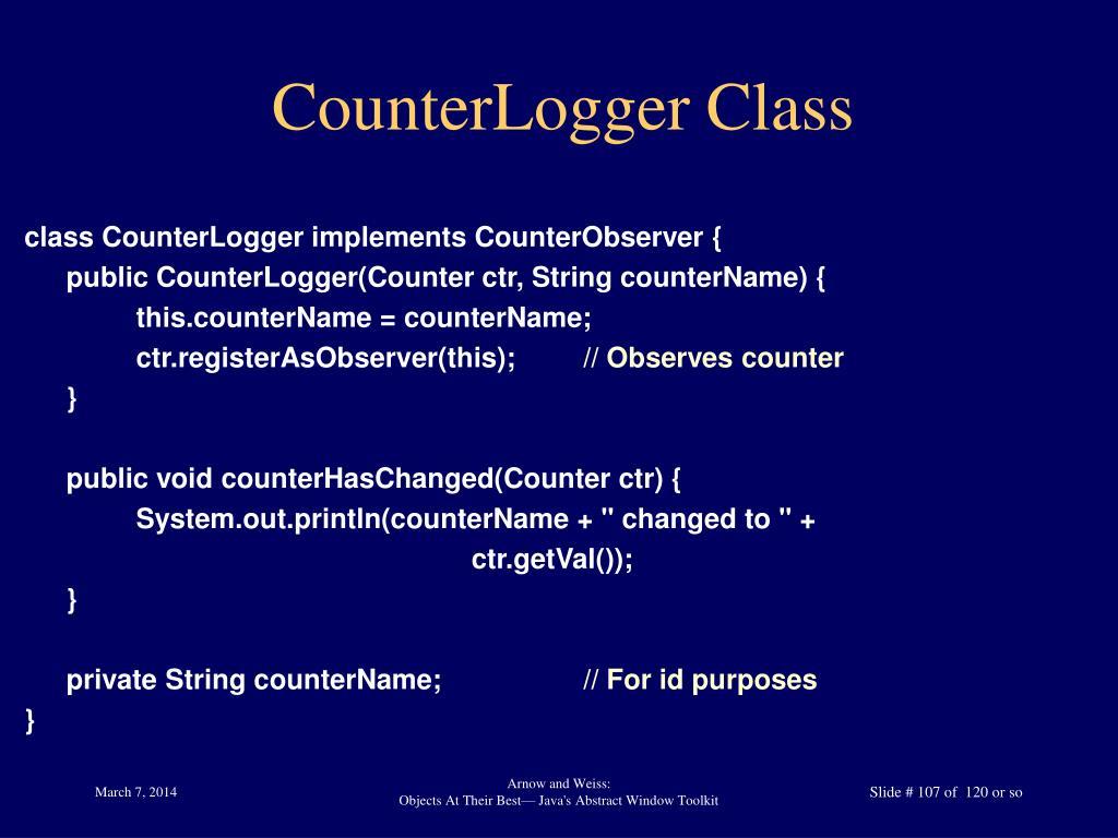 CounterLogger Class
