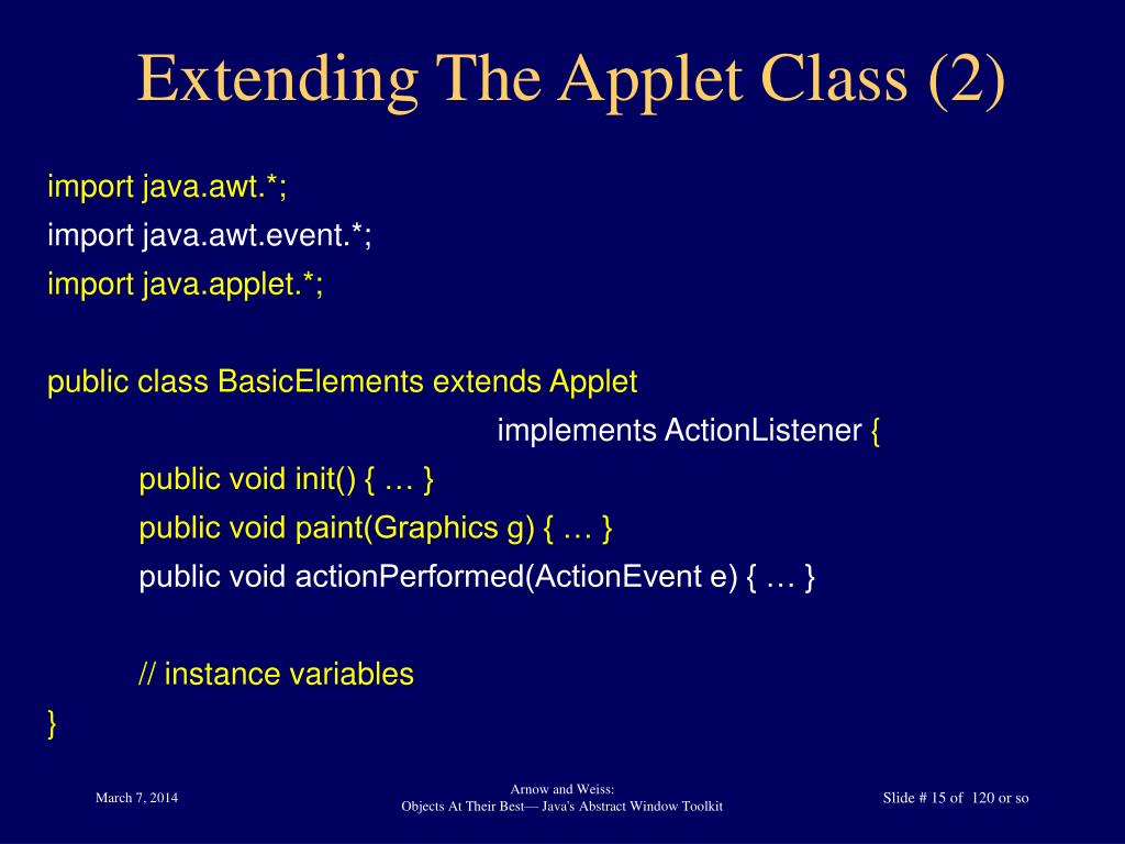 Extending The Applet Class (2)