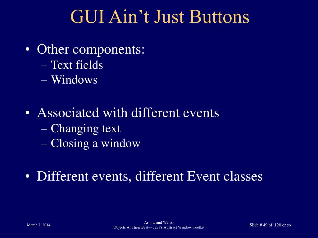 GUI Ain't Just Buttons