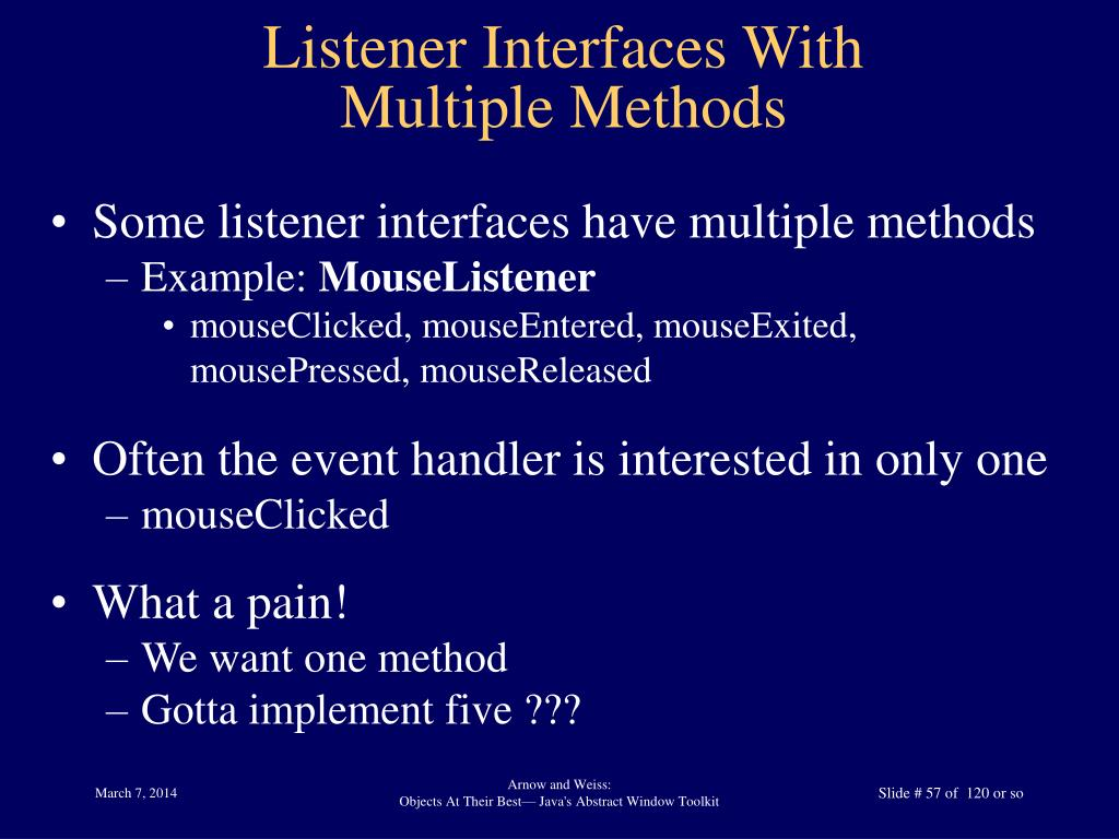 Listener Interfaces With