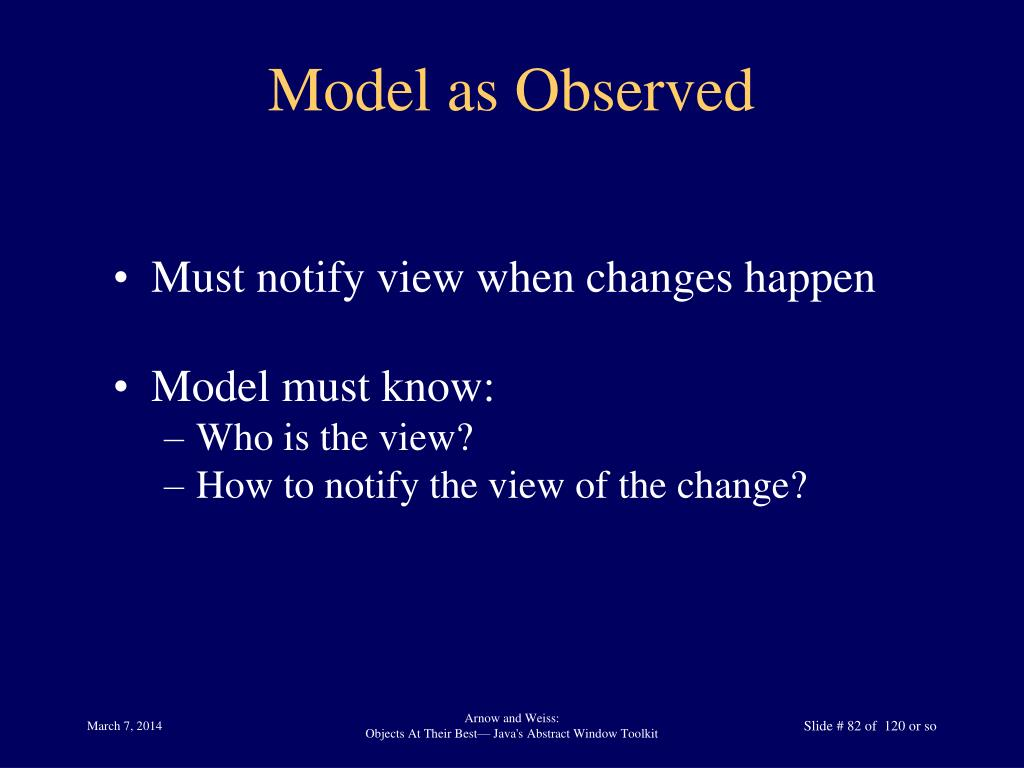 Model as Observed