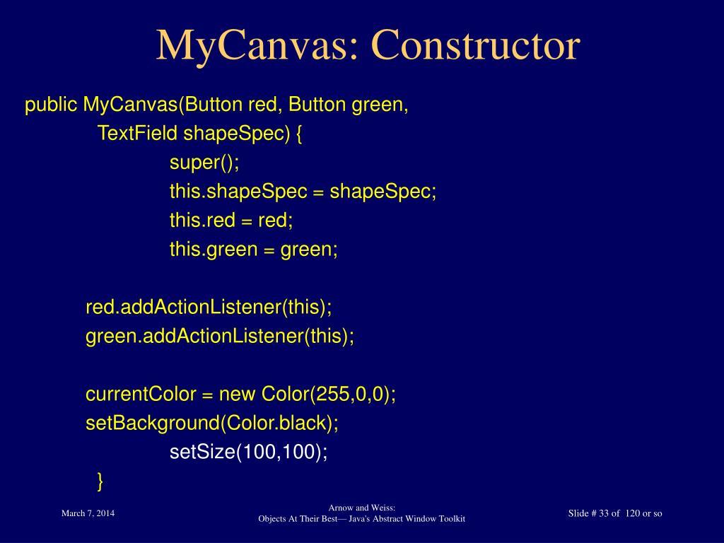 MyCanvas: Constructor