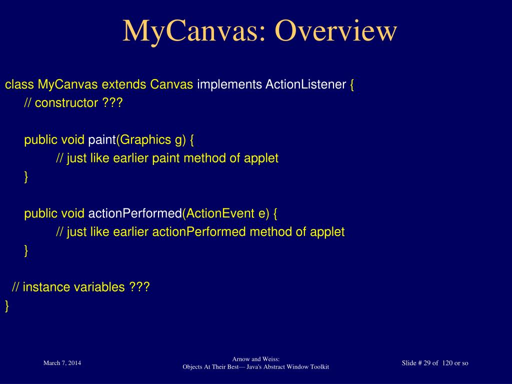 MyCanvas: Overview