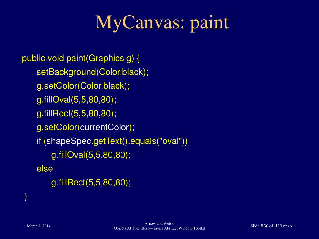MyCanvas: paint