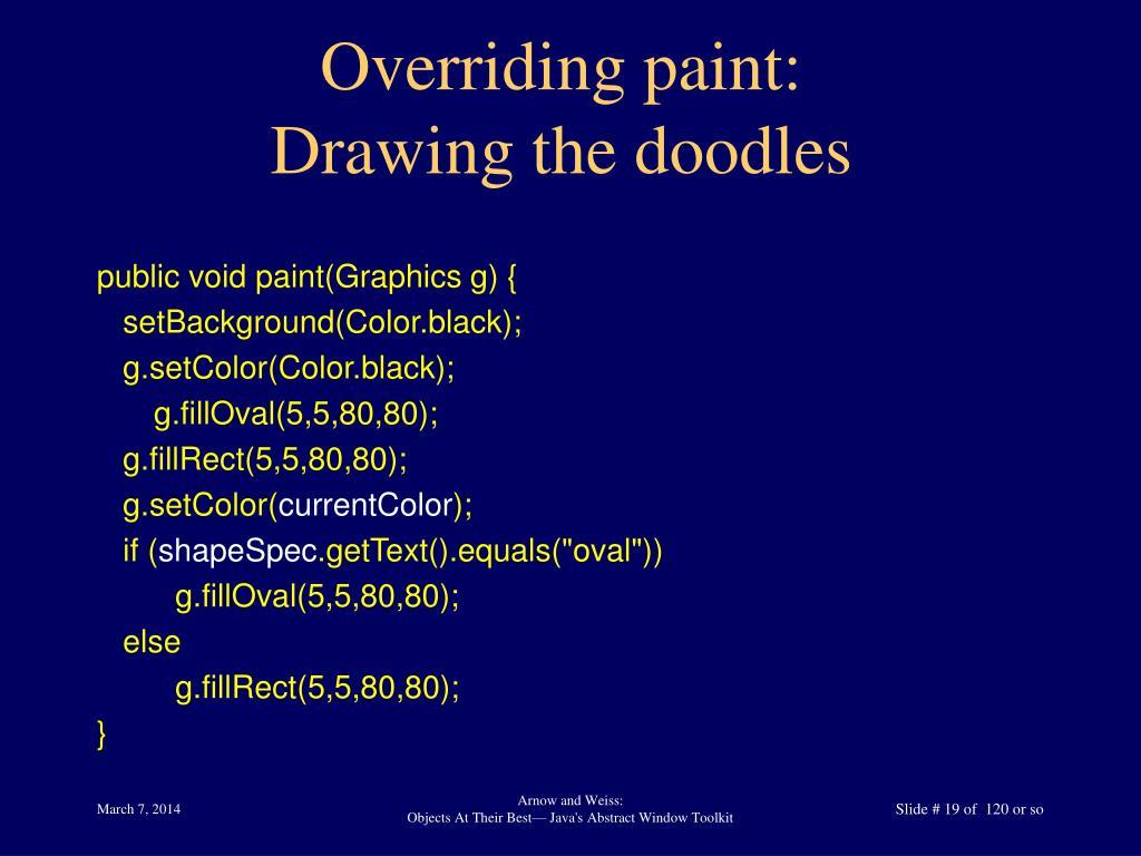 Overriding paint: