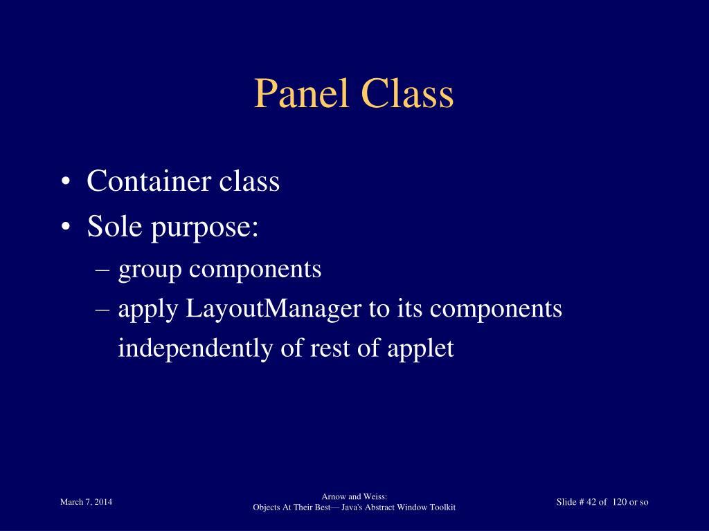 Panel Class