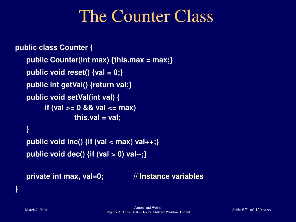 The Counter Class