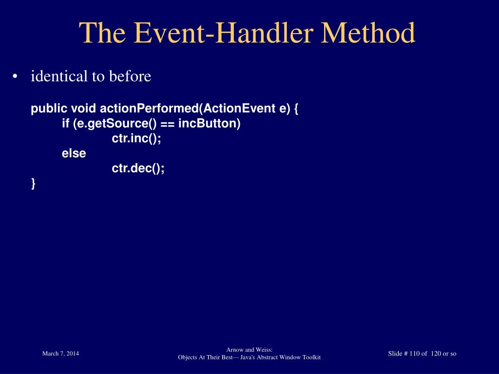The Event-Handler Method