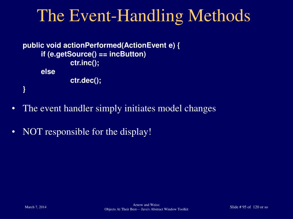 The Event-Handling Methods