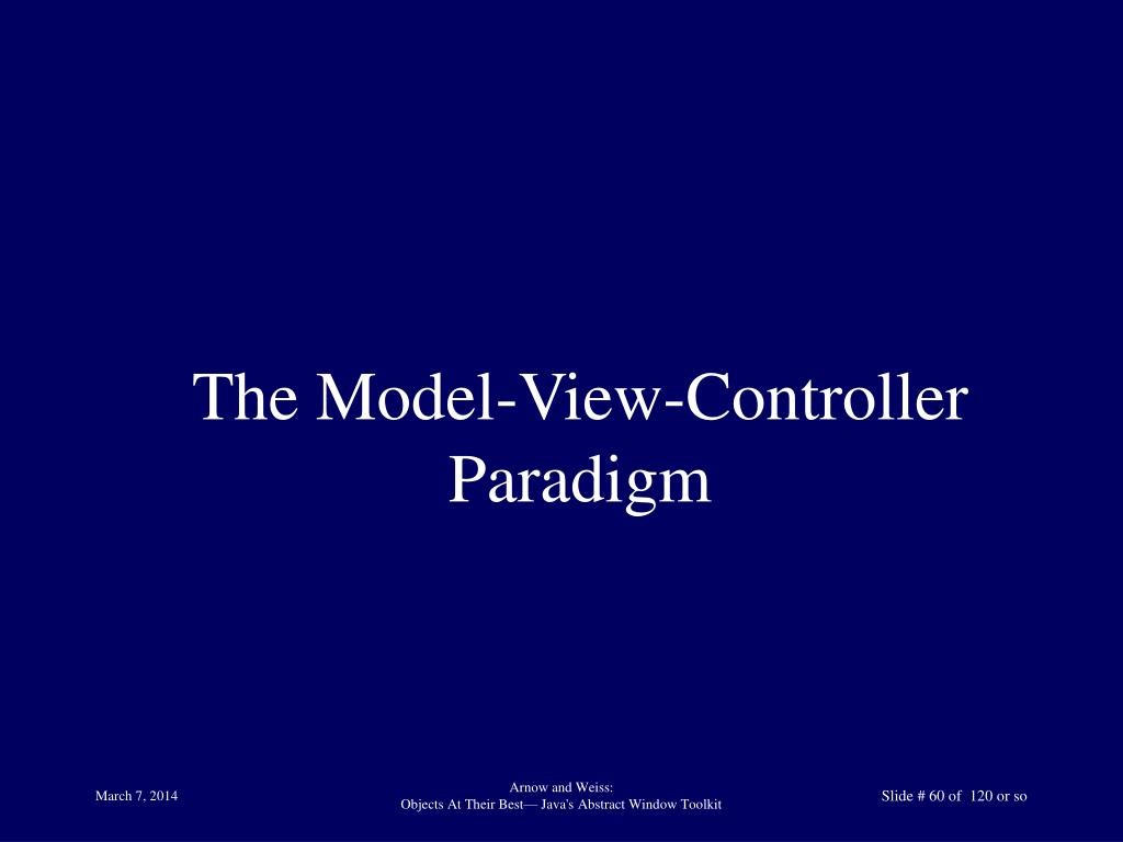 The Model-View-Controller