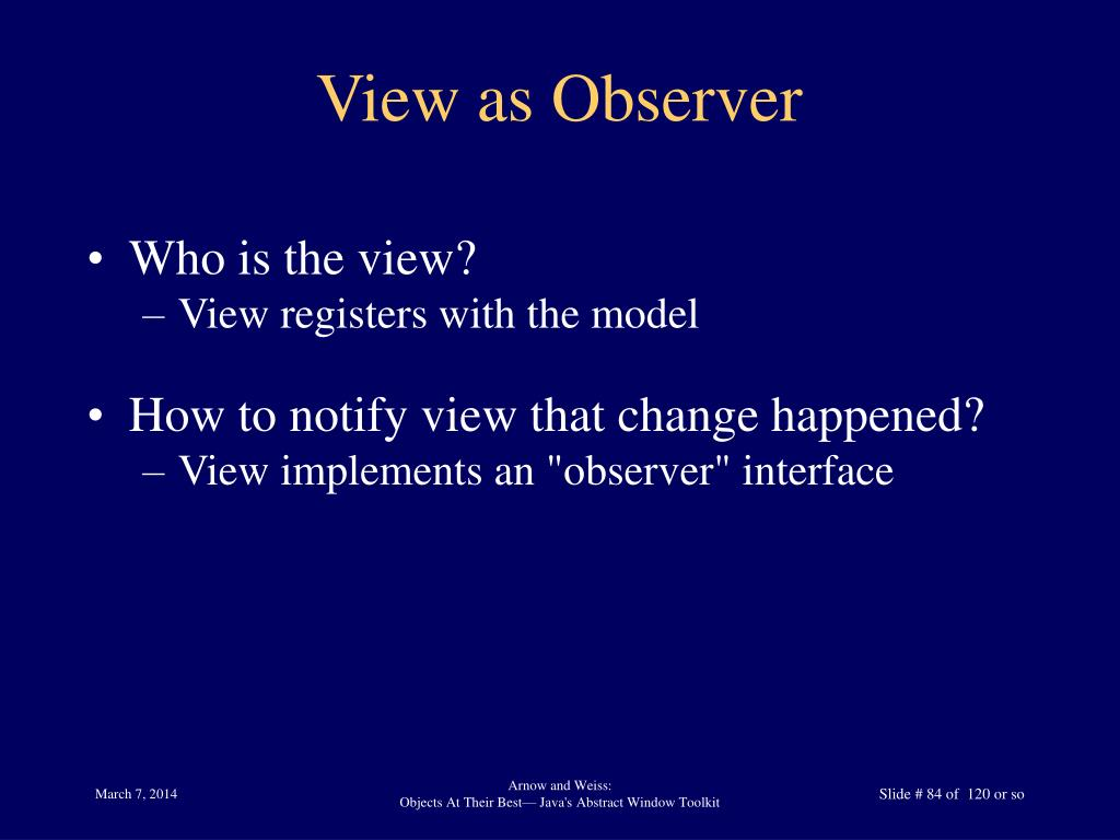 View as Observer