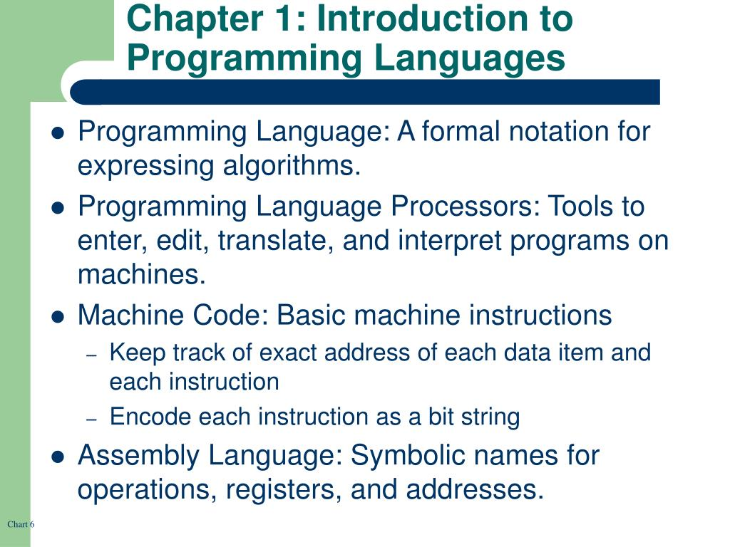 Chapter 1: Introduction to Programming Languages