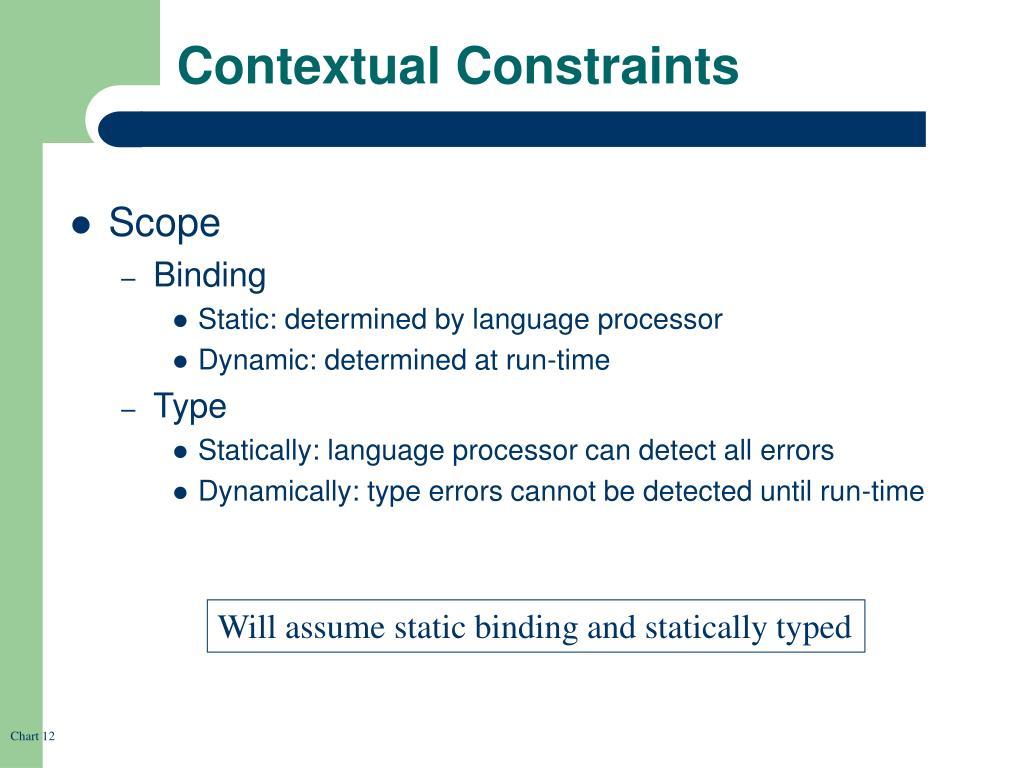 Contextual Constraints