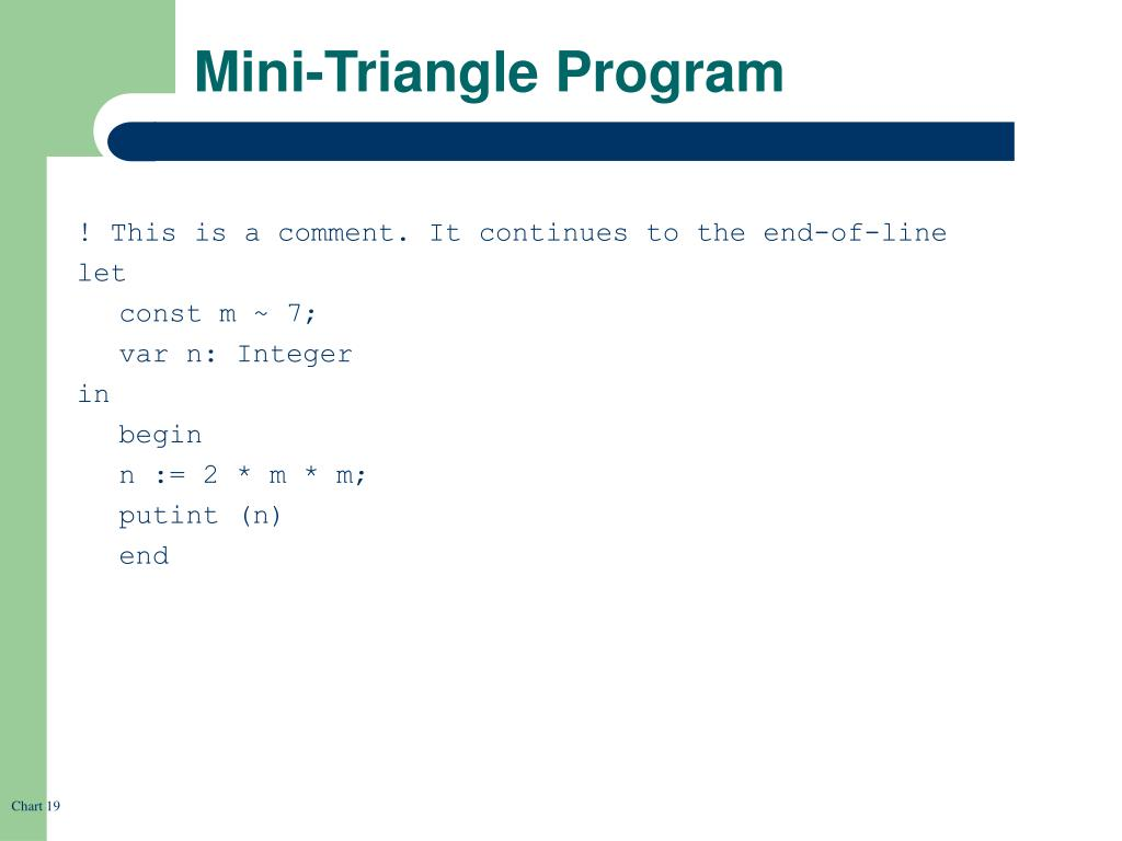 Mini-Triangle Program