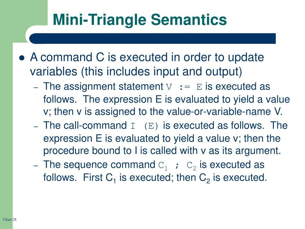 Mini-Triangle Semantics