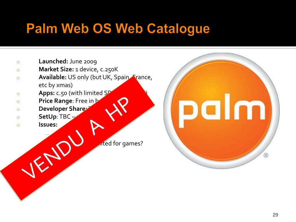 Palm Web OS Web Catalogue