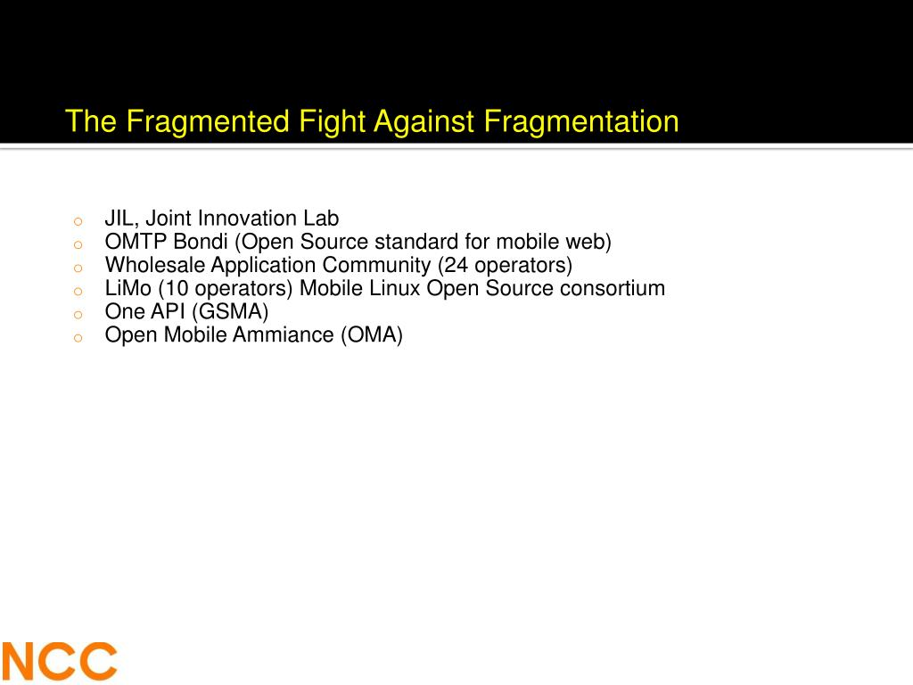 The Fragmented Fight Against Fragmentation