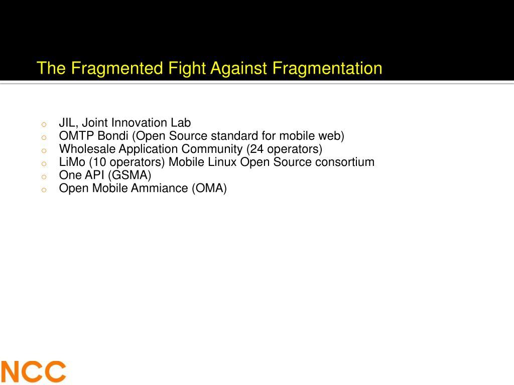 The Fragmented Fight Against Fragmentation