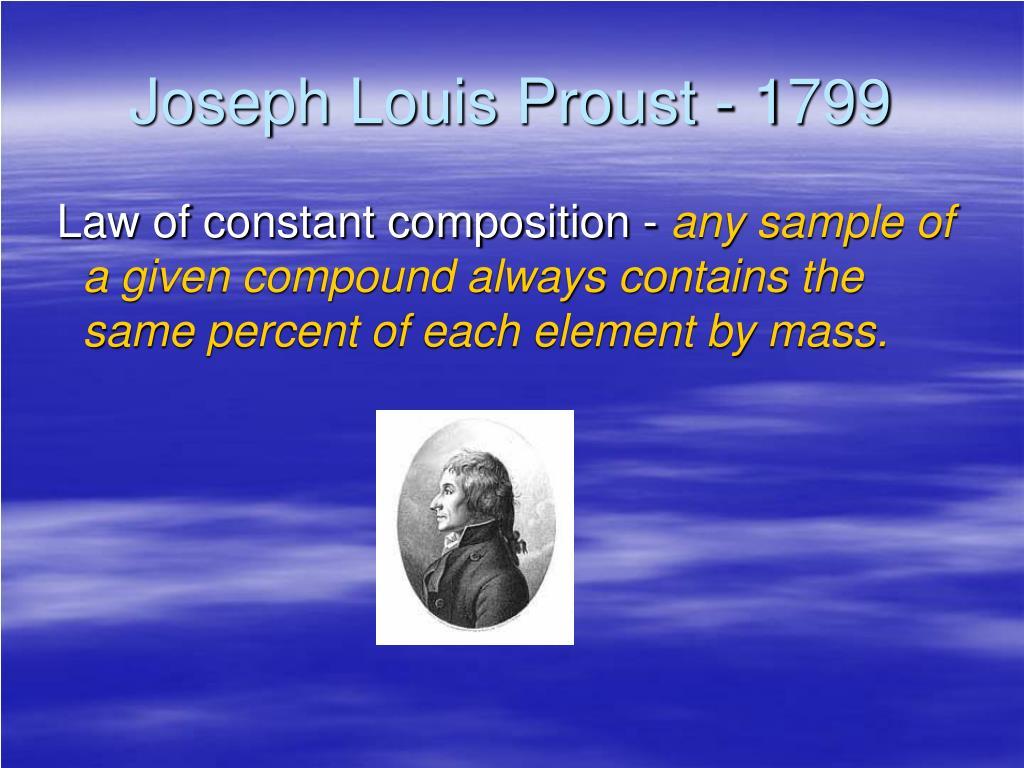 Joseph Louis Proust - 1799