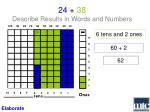 24 38 describe results in words and numbers