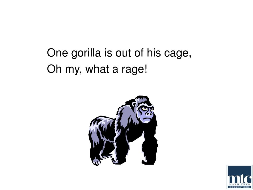 One gorilla is out of his cage,