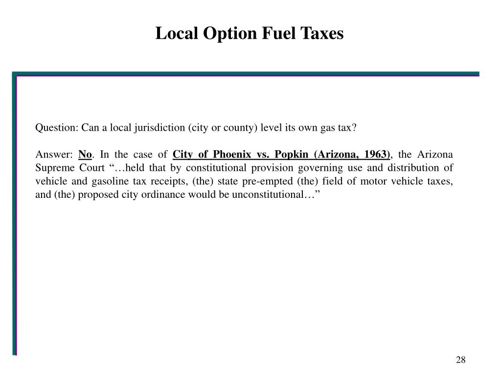Local Option Fuel Taxes