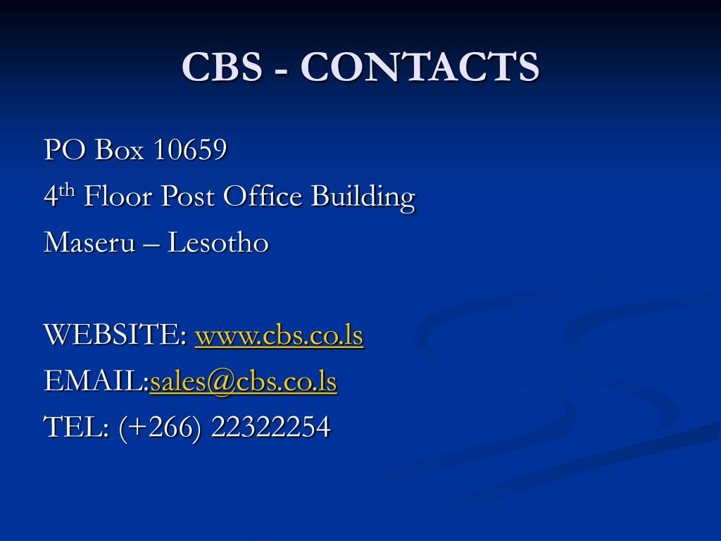 CBS - CONTACTS