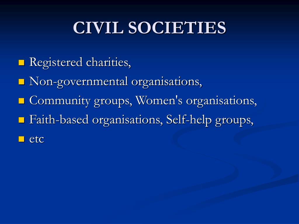 CIVIL SOCIETIES