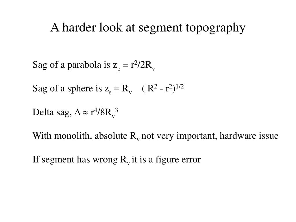 A harder look at segment topography