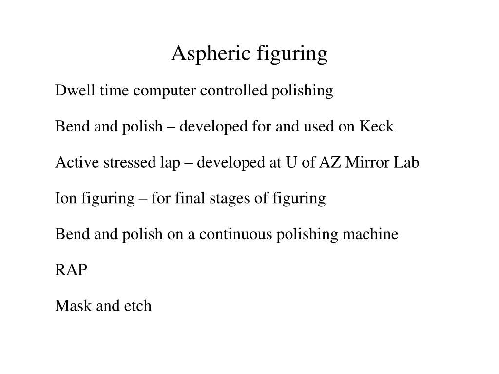 Aspheric figuring
