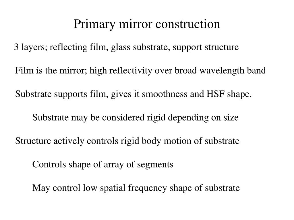 Primary mirror construction