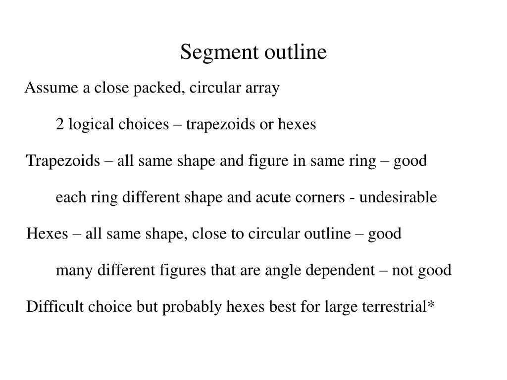 Segment outline