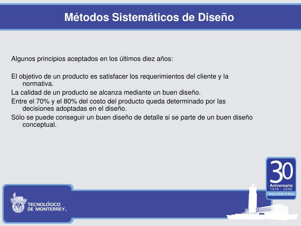 Métodos Sistemáticos de Diseño