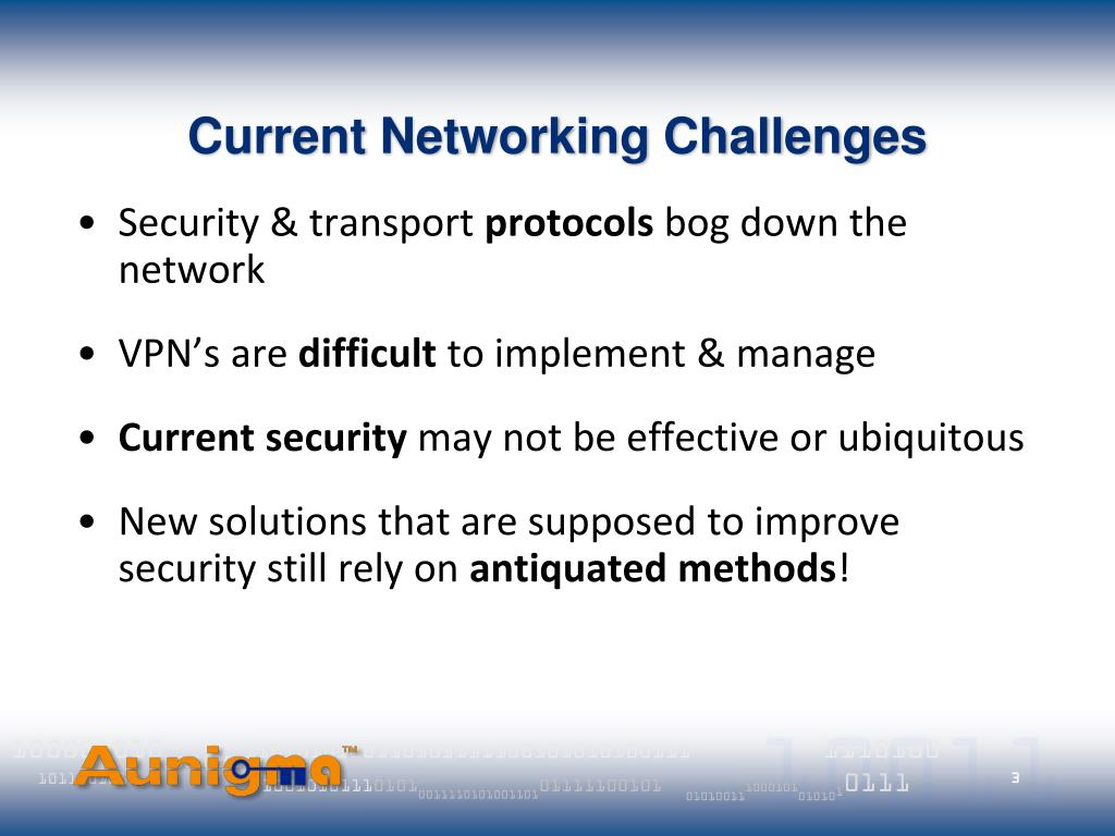Current Networking Challenges