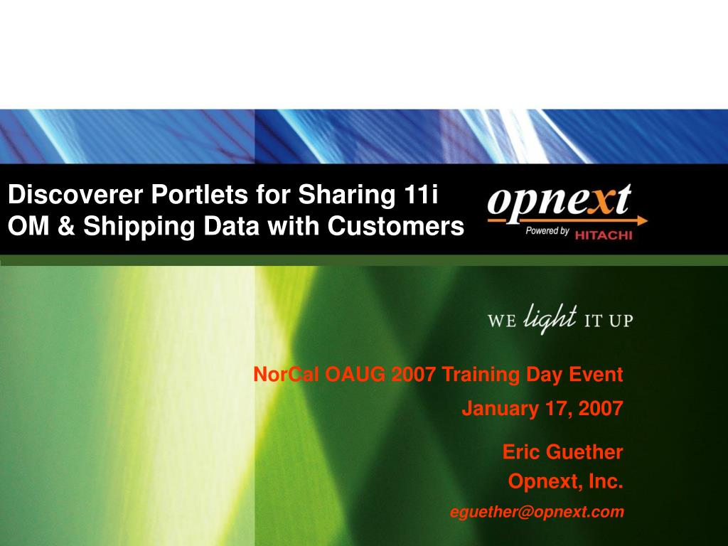 Discoverer Portlets for Sharing 11i