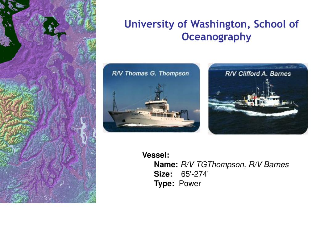 University of Washington, School of Oceanography