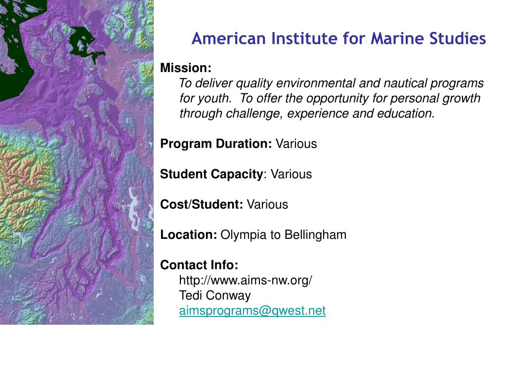 American Institute for Marine Studies
