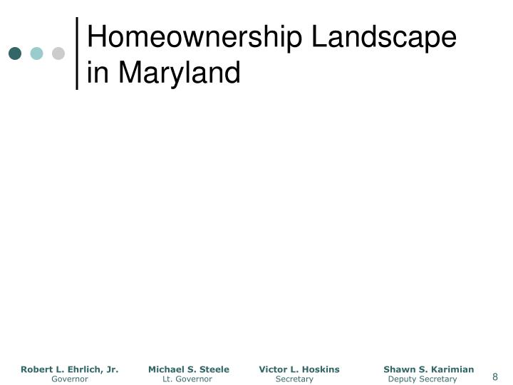 Homeownership Landscape in Maryland