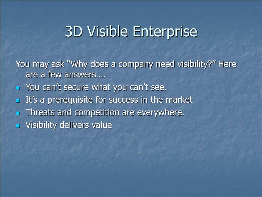 3D Visible Enterprise
