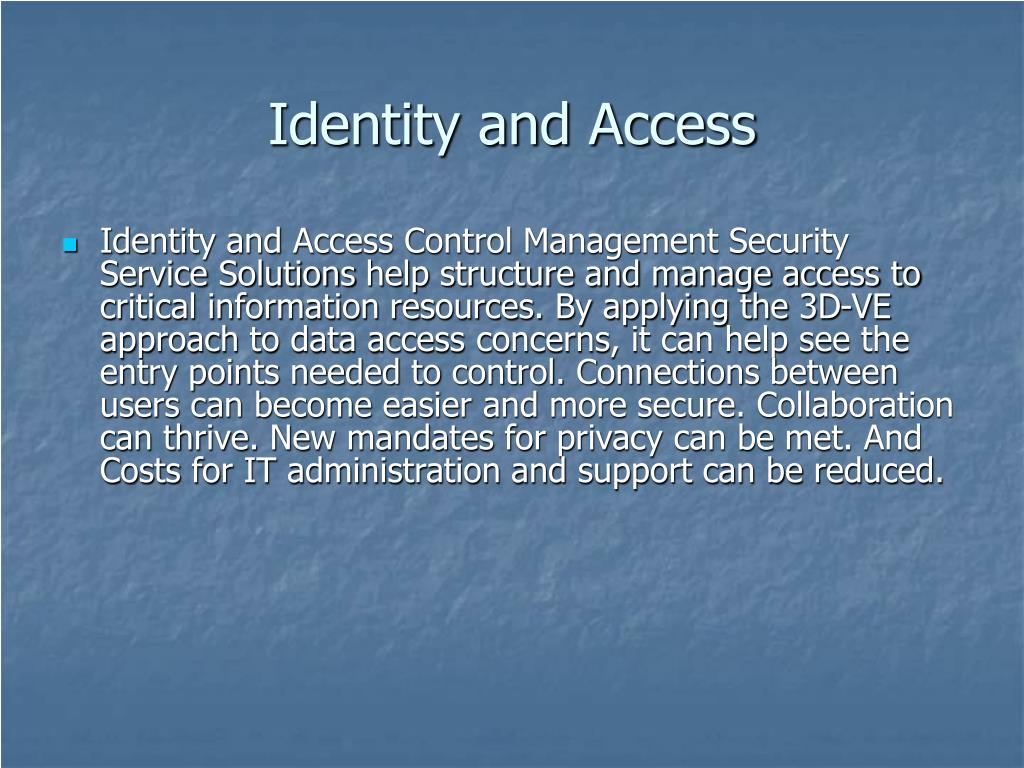 Identity and Access