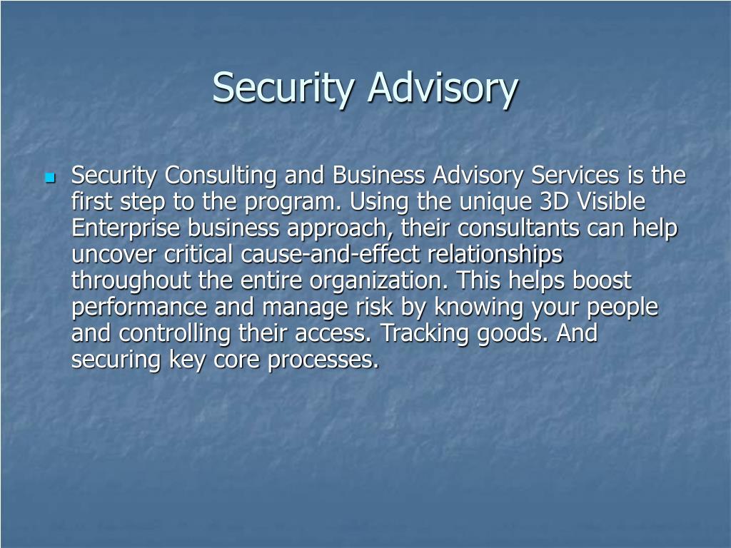 Security Advisory