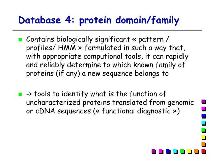 Database 4: