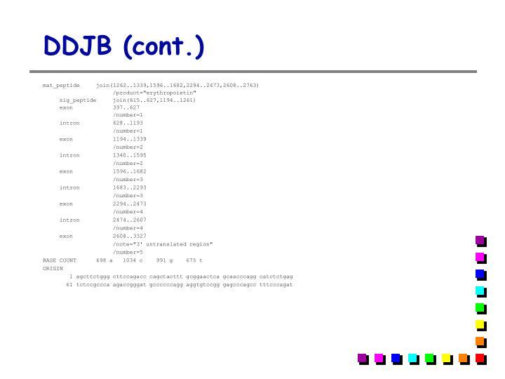 DDJB (cont.)