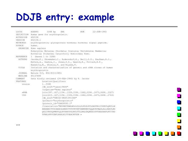 DDJB entry: example