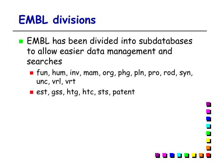 EMBL divisions