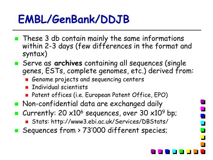EMBL/GenBank/DDJB