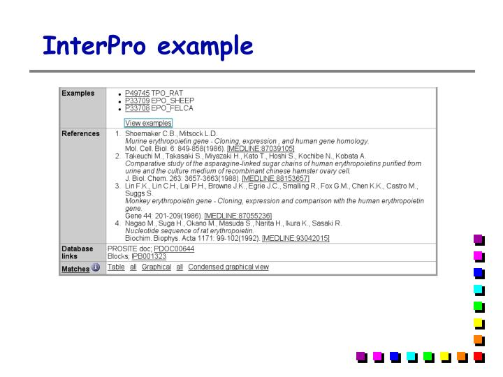 InterPro example