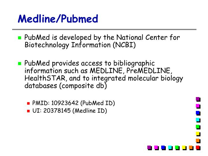 Medline/Pubmed